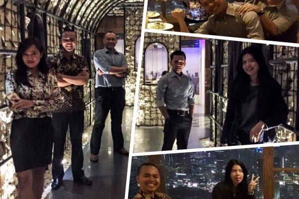 Team dinner at Jakarta's 3rd tallest building!