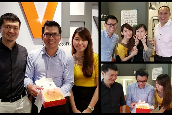 September Birthday celebration and a surprise visit from Cindy Foo!
