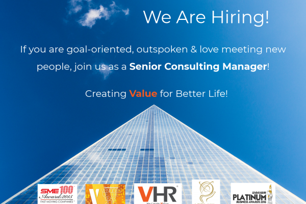 If you are goal-oriented, outspoken and love meeting new people, you may fit right into our team! We are currently looking for a Senior Consulting Manager (Business Development) with an attractive remuneration package.