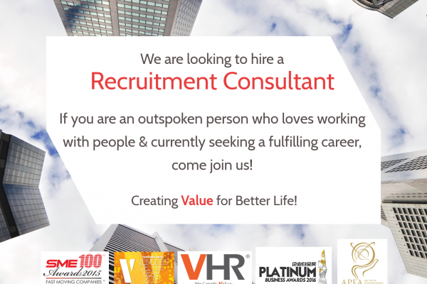 Do you aspire to be a great recruitment expert? If you have 1-2 years of working experience in any industry and seeking a great career mentor, come join us!