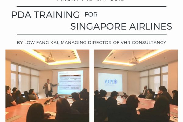 PDA Training for Singapore Airlines on last Friday, 18 May 2018.