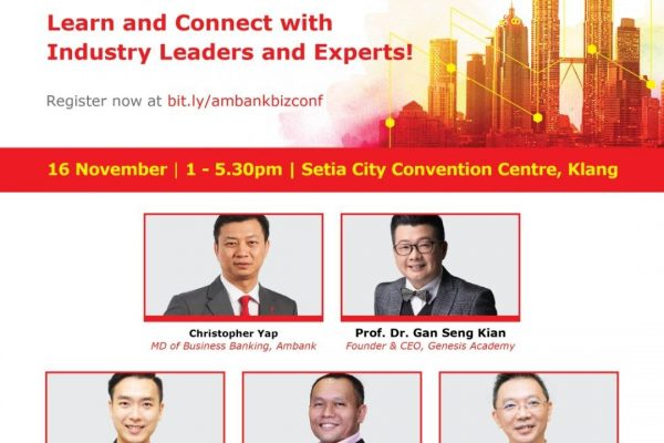 We are honoured to share that our MD, Low Fang Kai was invited as one of the industry experts for the AmBank BizCONFERENCE 2018 to speak about the current HR/ Talent Recruitment matters.
