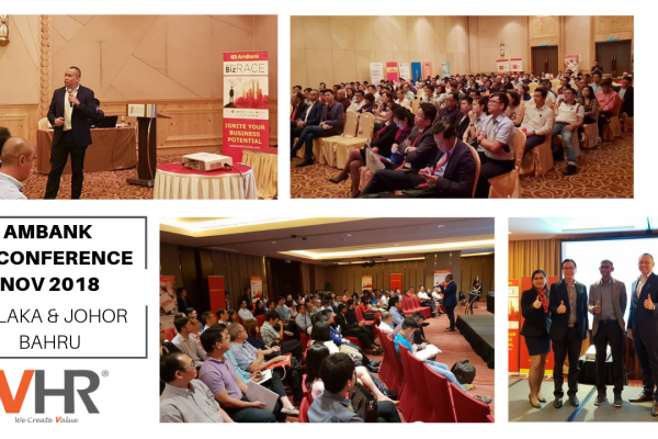 The crowd at the #AmbankBizConference in Melaka and Johor Bahru was superb! VHR is honoured to be part of this successful event and a huge thank you to #Ambank and #Leaderonomics for having us there!