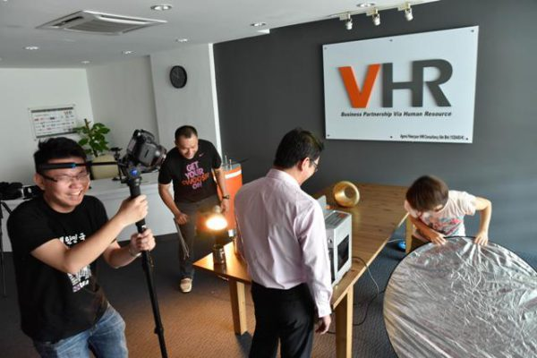 VHR Corporate Video filming (behind the scenes)