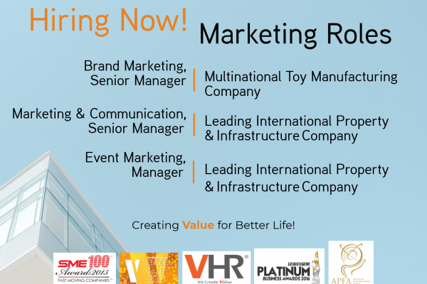Our clients are looking for marketing professionals! Click on the image find out more.