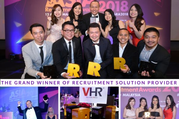 Yesterday evening was a proud and fulfilling moment for team VHR. We have won Gold for 5 categories at the Asia Recruitment Award 2018!