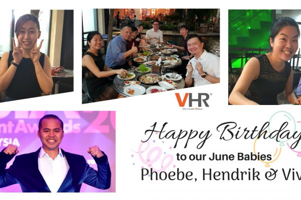 A big shout out to June babies of VHR! May Phoebe, Hendrik and Vivi have a blessed and grand celebration! Happy Birthday!