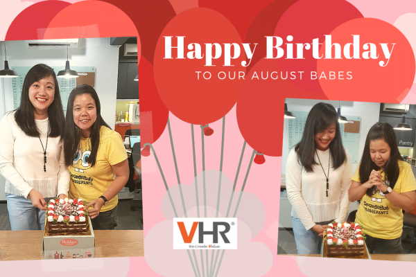 Guess what, we are celebrating August babes' birthday! Today may not be the actual day, but team VHR wishes both Anny Lo and Vivian Tan a wonderful birthday. May you both have your wishes come true and a month-long celebration!