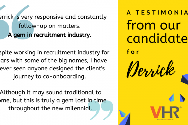 Good words are worth sharing! #Kudos to our senior consultants, Derrick, Vivi and Jesse for the providing such outstanding service! Here is what our candidates said about them.
